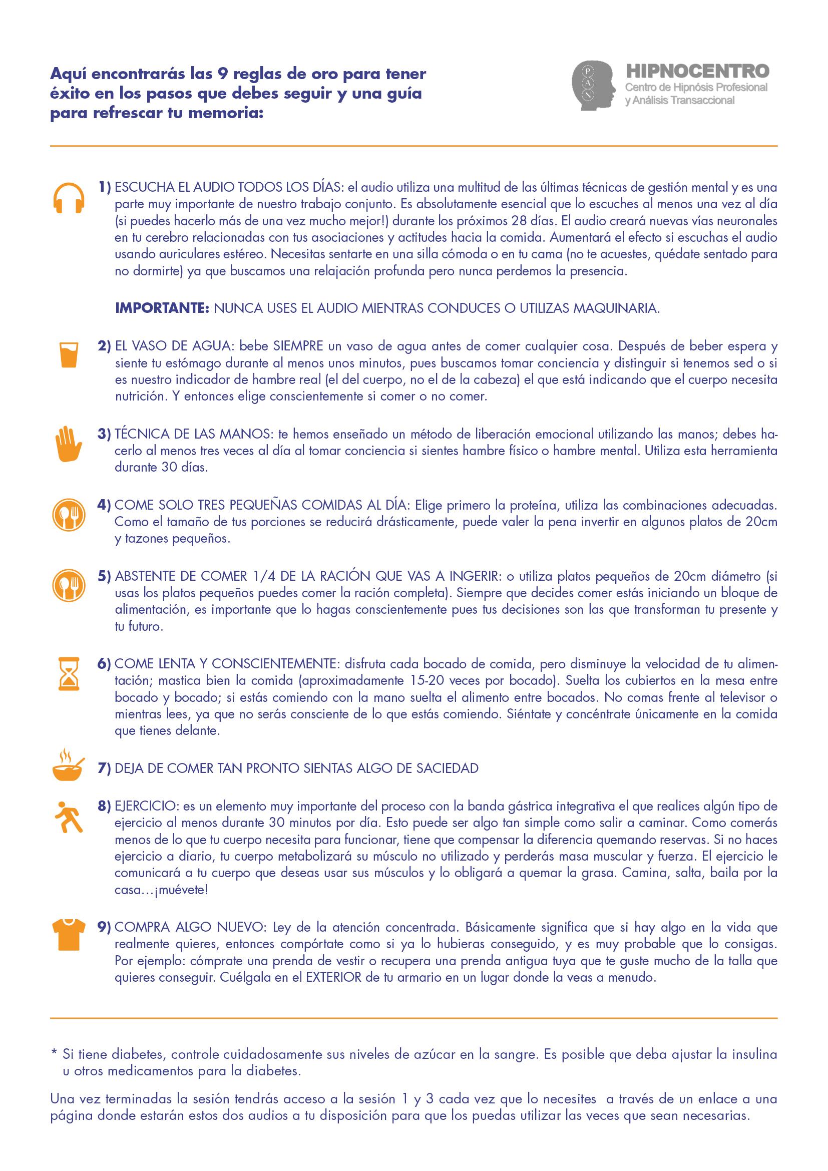 Las 9 reglas de oro Banda Gástrica Integrativa®